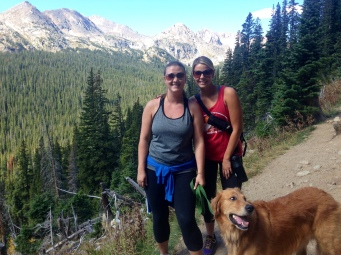 D & I hiking up to the Great Continental Divide!