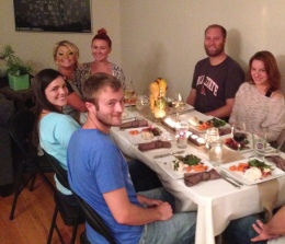 First official dinner party in my new place!