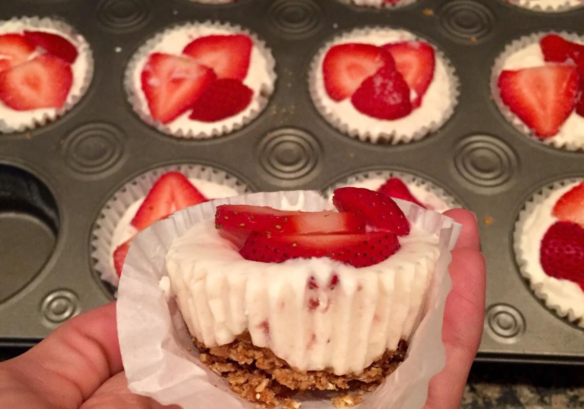 Strawberry Cheesecake Froyo Bites